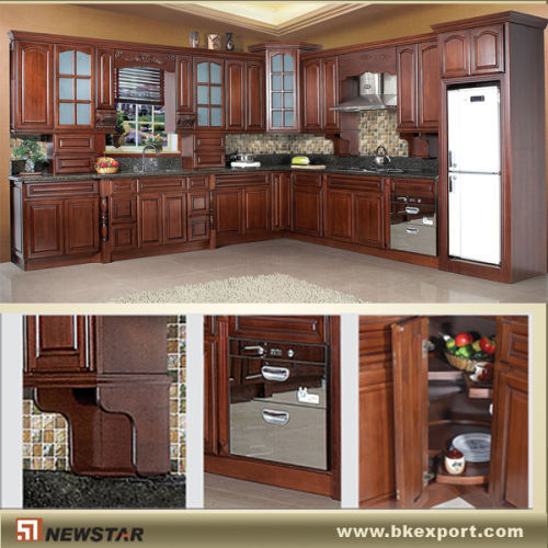 Cherry Wood Pantry Cupboards Products China Products