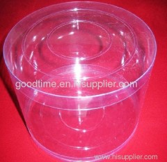 PVC transparent cylinder tube box