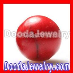 Shamballa Style Red Coral Beads