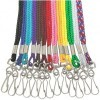 Colored Round Lanyard with Swivel Hook