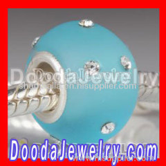 european Frosted Glass Bead with Austrian crystal wholesale