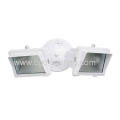 300 Watt Mini Halogen Double Flood Light with Eyebrow Face Frame