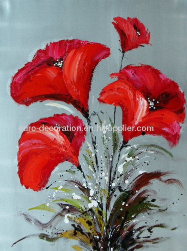 Handmade Flowers In Oil Painting