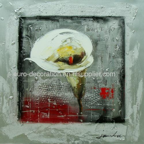 Handmade Modern Flower Oil Paintings