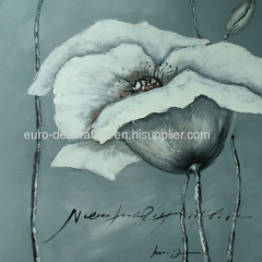 Abstract Flowers Hand-Painted Oil On Canvas