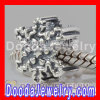 european Style Antique Christmas Snowflake Charm Beads Fit european Bracelet