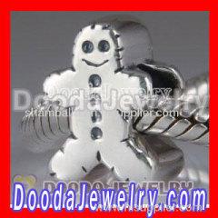 european christmas snowman charm beads