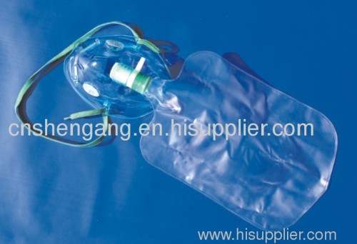 Medical oxygen mask with bag