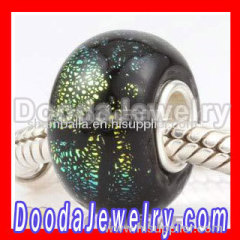 sterling silver core european glass beads
