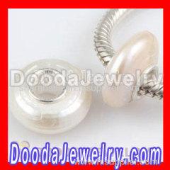 european silver charm pearl