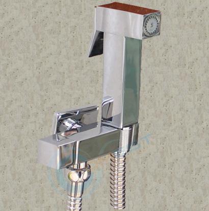 Brass square Shattaf Bidet douche hand shower