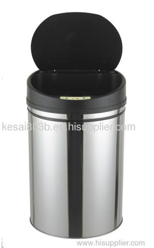 Sensor trash bin/Stainless Steel No touch/hand free automatic waste bin/trash bin/garbage bin/dust bin/ash can