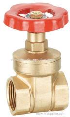 Brass knife gate valve