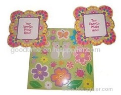 Customized full color beautiful flower photo paper card