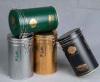 round tea tins