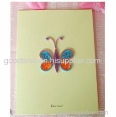 butterfly handmade greeting card