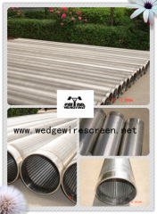 Vee wire screen pipe