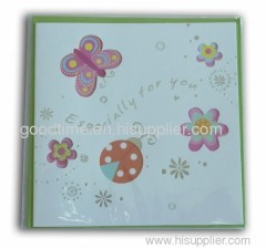 butterfly wishes folded paper card