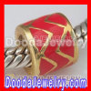 Gold Plated 925 Sterling Silver Charm Jewelry Enamel Beads