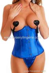 Blue Evelyn underbust corset