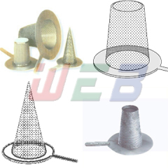 cone filters stainless steel screen