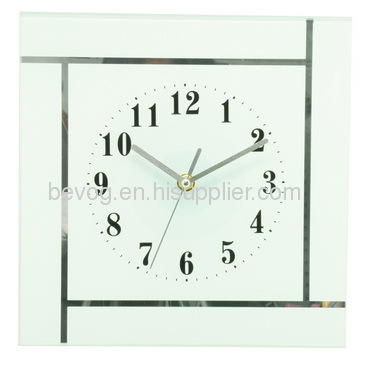 Square Glass Wall Clock BV52L manufacturer from China Bevog