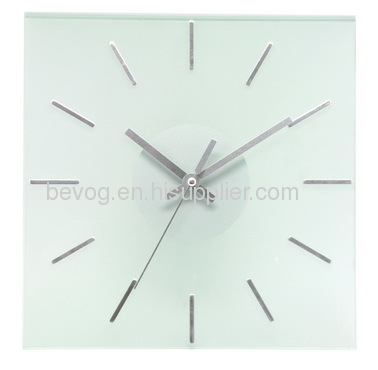 12 Square Glass Wall Clock Bv12df Manufacturer From China