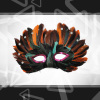 feather decoration masquerade party mask