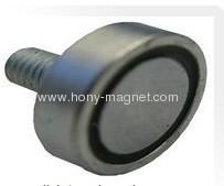 External Threaded Stud pot magnet