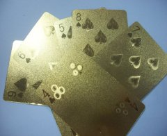 Golden Poker Card