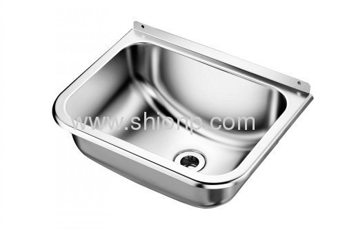 Wall-hung stainless steel kitchen sink