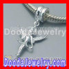 925 Sterling Silver Dangle Angel Charms Fit european Jewelry Necklaces