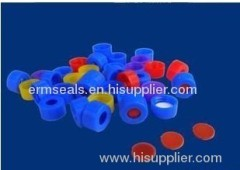 Chromatogram Bottle Cap with PTFE silicone Septa