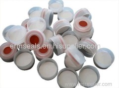 white PTFE/red Silicone septa, natural snap-top polypropylene cap