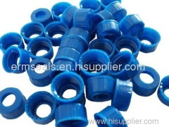 PTFE septa pre-assembly open-topped cap and PTFE/white Silicone septa