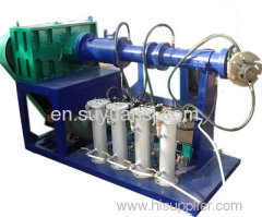 the rubber extruder