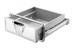 Stainless steel drawer with slides