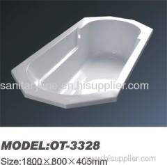 simple acrylic bathtub