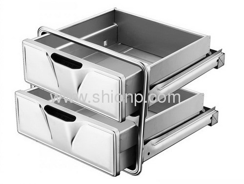Stainless steel kitchen drawers for cabinet from china for Stainless steel drawers kitchen
