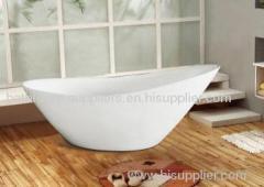 white acrylic bathtub