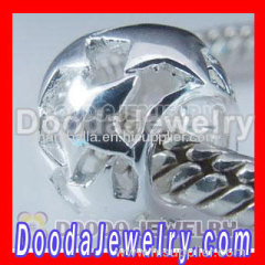 silver hollow bead