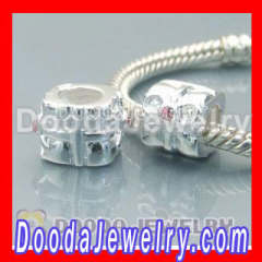 european silver beads with gems