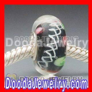 Chamilia 925 sterling silver single core glass bead wholesale