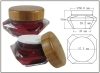 Bamboo cap for Acrylic jar diamond jar cap cream jar 15g and 30g jar cap day cream and night cream package
