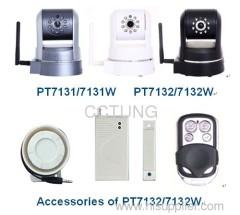 wired/wireless IP camera with wireless alarm