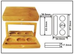Bamboo eyeshadow case SBE010 bamboo compact