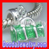 european Style 925 Sterling Silver Enamel Green Bag Beads For european Chamilia Biagi Jewelry Necklace
