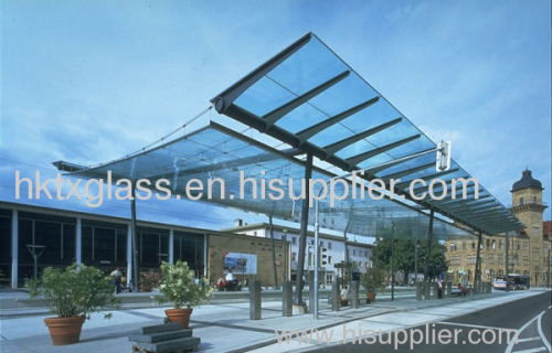 Laminated Glass canopy / building glass / low e glass & Laminated Glass canopy / building glass / low e glass TX-0018 ...