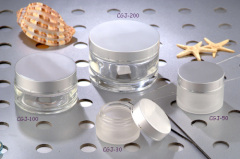 round cream jar cosmetic jar