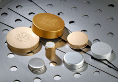 Aluminum cap Anodized Aluminum with plastic inner cap hot sale cosmetic package high-grade products